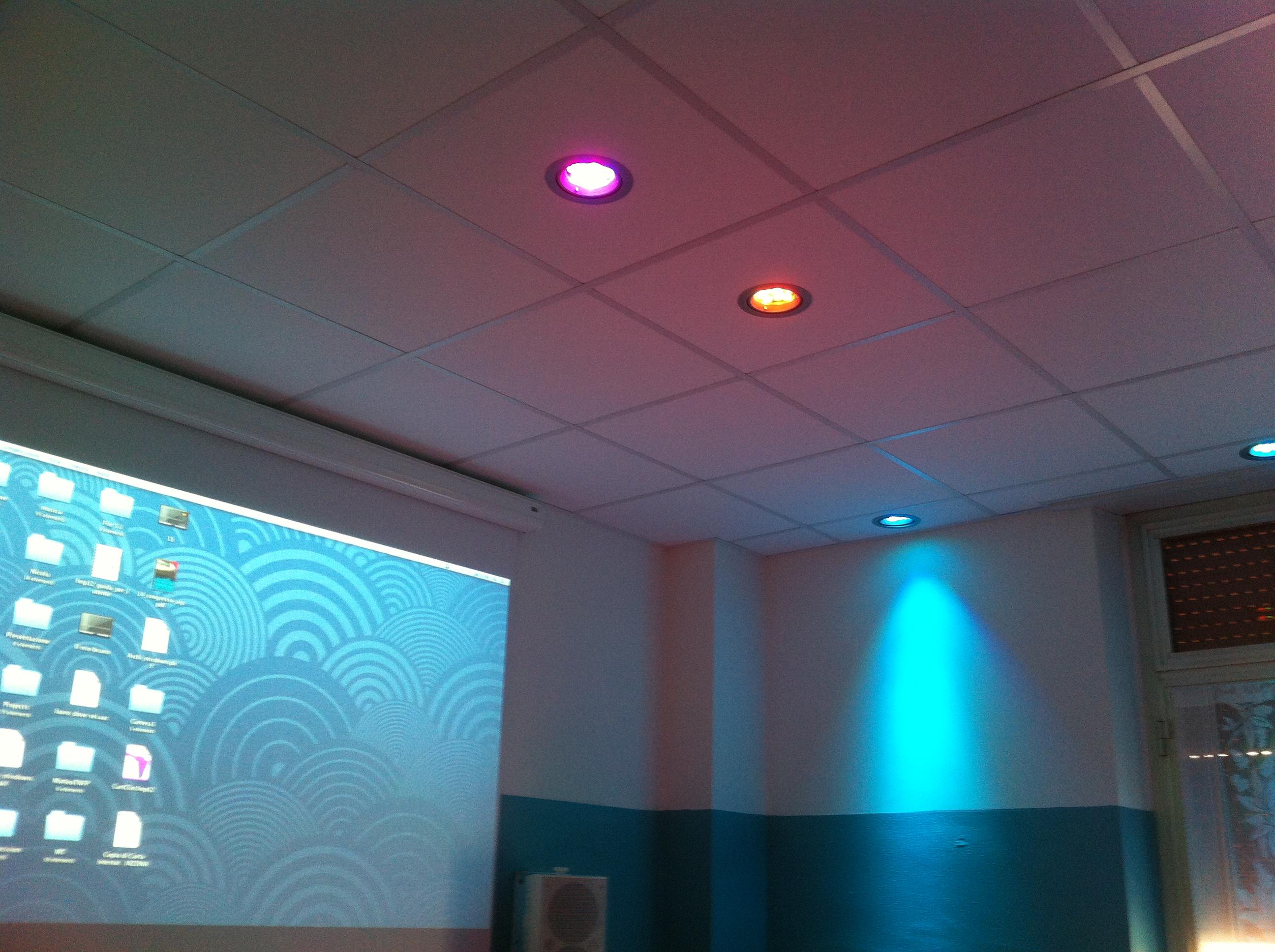 Particolare fari a LED