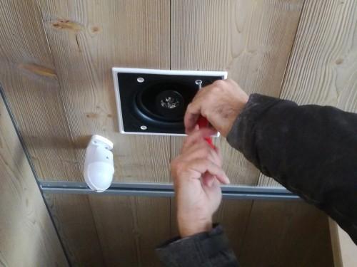 Installazione diffusori in Sala da Pranzo