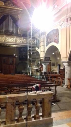 Chiesa di S. Stefano, Crodo (VB): nuovo impianto di illuminazione