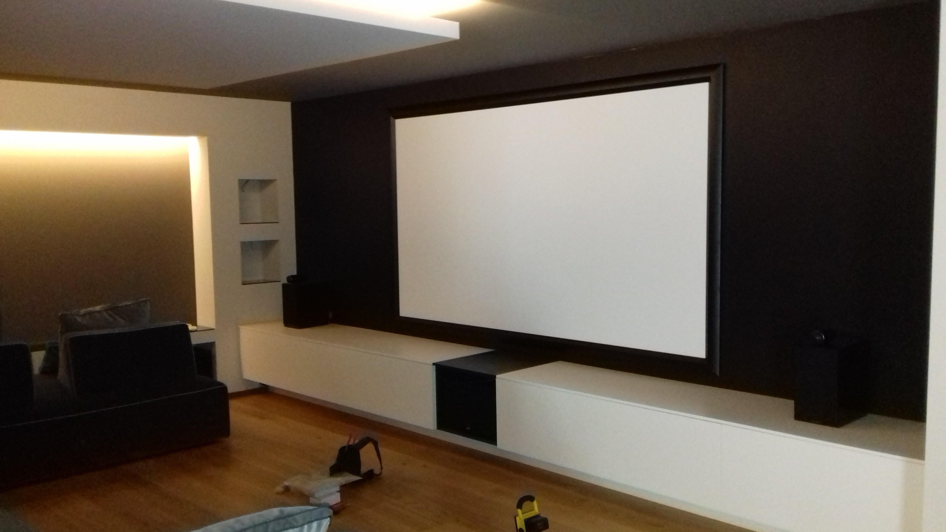Lo schermo della Sala Home Theatre