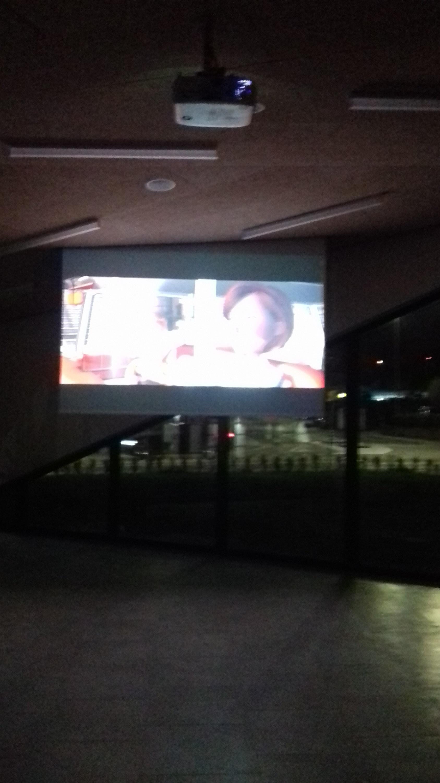 Il grande schermo della Sala Principale