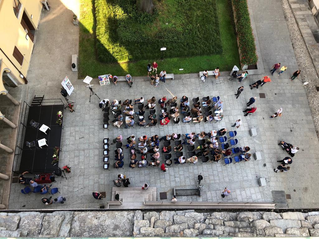 Piazza Rovereto dall'alto