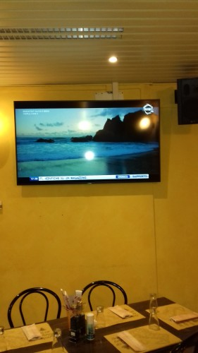 Monitor 4K in Sala Ristorante